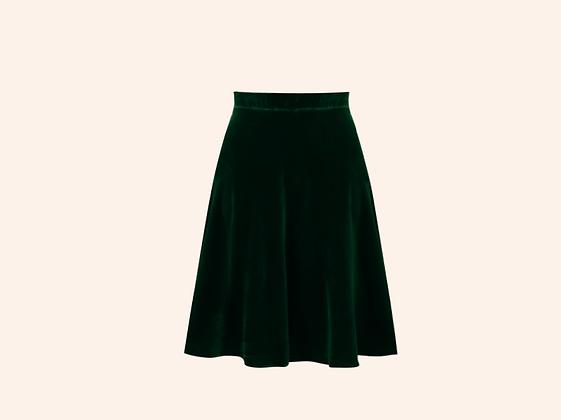 Falda Velvet long Jeanne English Green