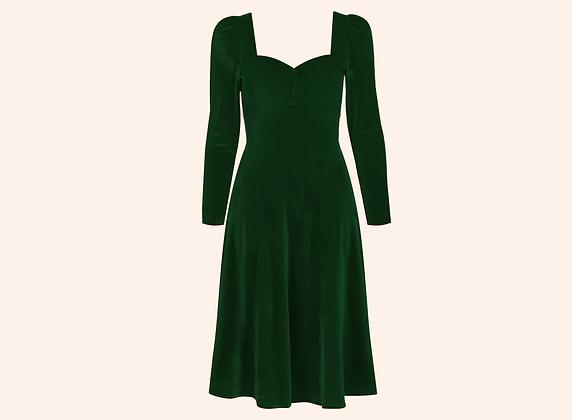 Vestido Velvet Aurora English Green