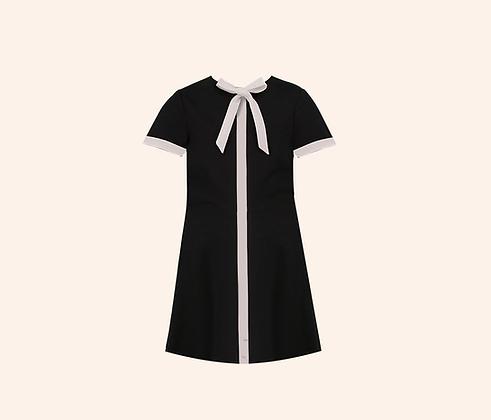 Minidress Chess black white