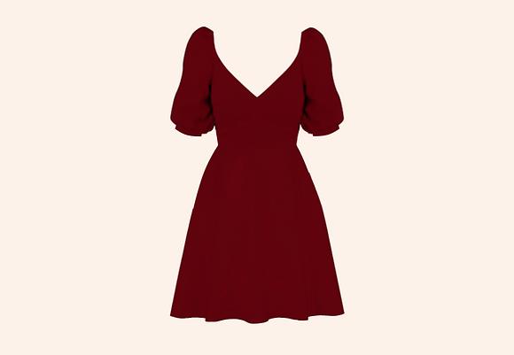 Vestido Ipswich Burgundy