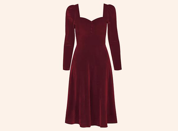 Vestido Velvet Aurora Burgundy