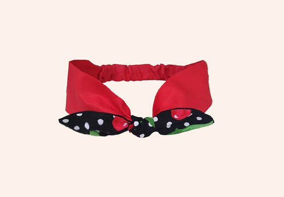 Cintillo pinup Cherry -Red