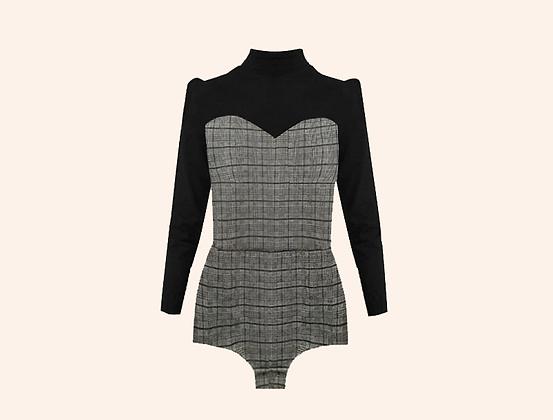 Oxford Bodysuit Black