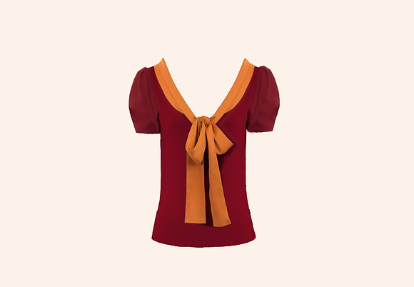 Top Agatha Burgundy