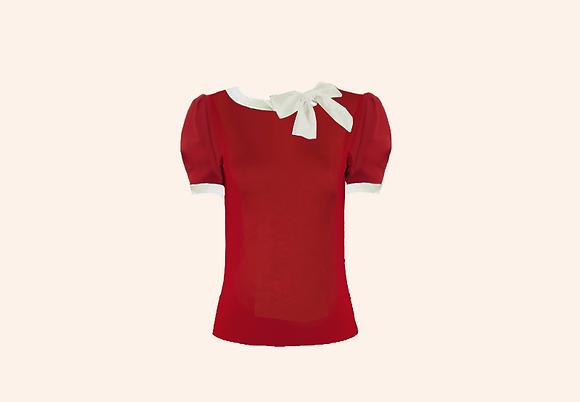 Lolita Red & ivory short sleeve