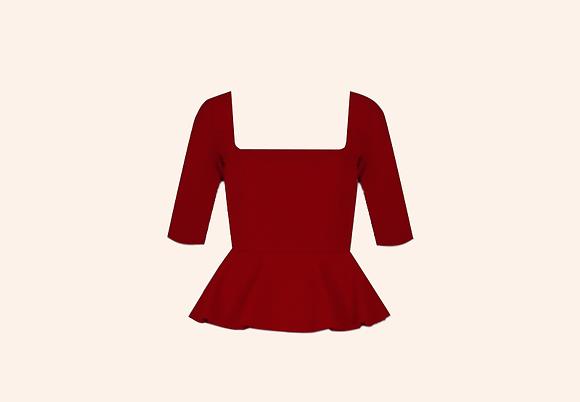 Top Peplum  Paris Rojo