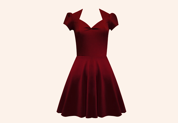 Vestido Beloved Bordeaux