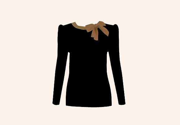 Jersey Lolita black & Beige