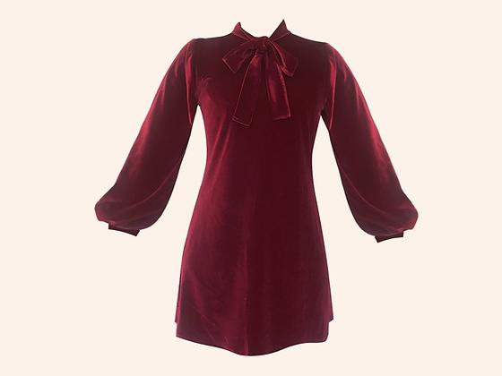 Vestido Velvet Moscou Burgundy