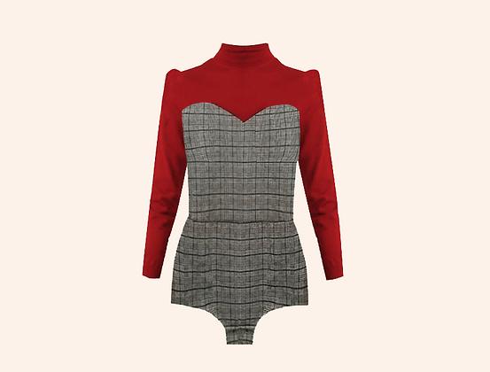 Oxford Bodysuit Red