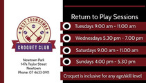 West Toowoomba Croquet Club is holding a FREE Come and Try