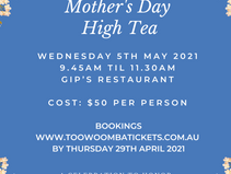 Toowoomba Hospice Annual Mother's Day High Tea