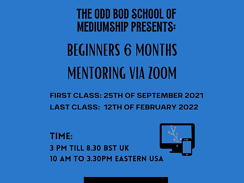 The Odd Bod Academy Six Months (Beginners) BST