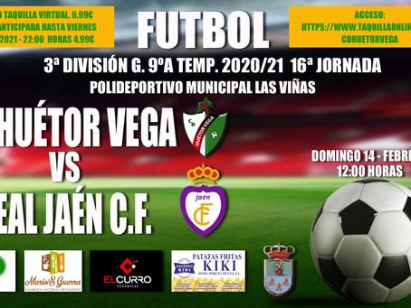 El C.D. Huétor Vega - Real Jaén, en Taquilla Online y con programación especial durante la semana.