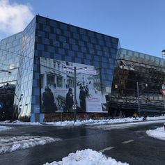University library in winter time