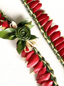 Song of India Red Ginger with Ti-Leaf Rose