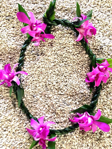 Ti-Leaf and Purple Orchid Combo Lei