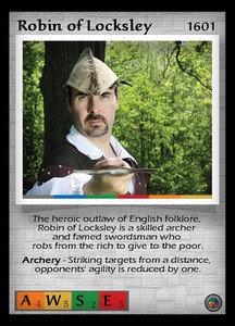 P&P Card 1601 - Robin of Locksley