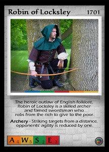 P&P Card 1701 - Robin of Locksley