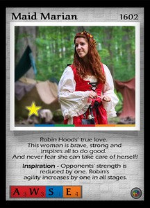 P&P Card 1602 - Maid Marian