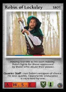 P&P Card 1801 - Robin of Locksley