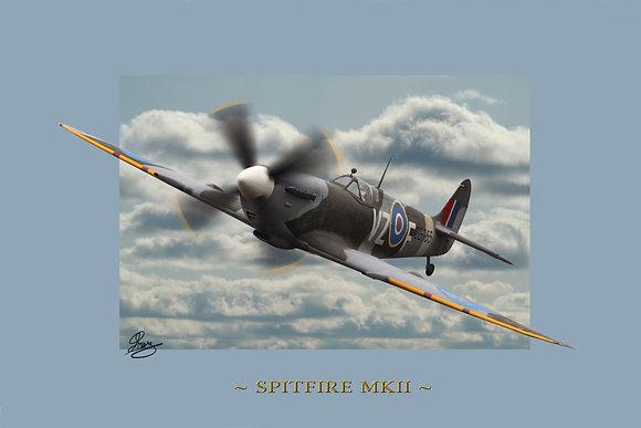36 x 24 Print: Spitfire MKII