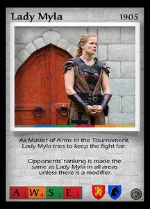 P&P Card 1905 - Lady Myla