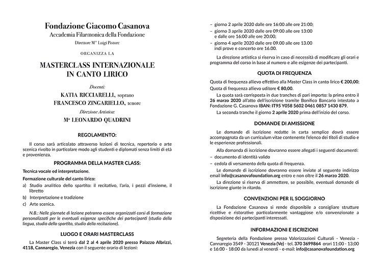 Bando Master Ricciarelli VENEZIA_interno
