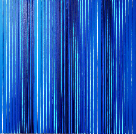 Verticality in blue variation #2