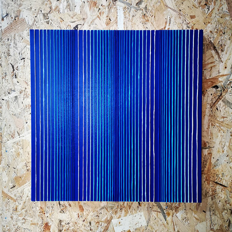 Verticality in blue variation #1