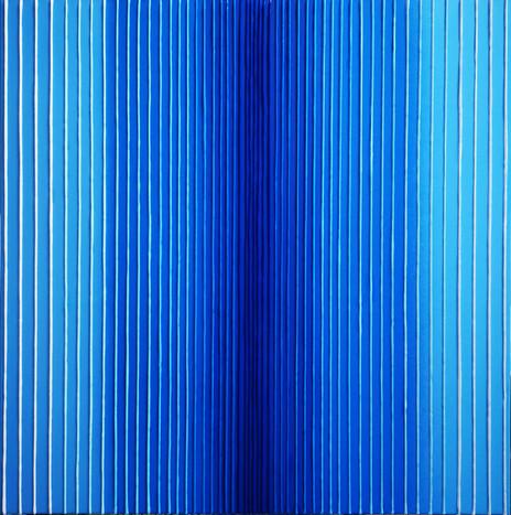 Verticality in blue variation#4