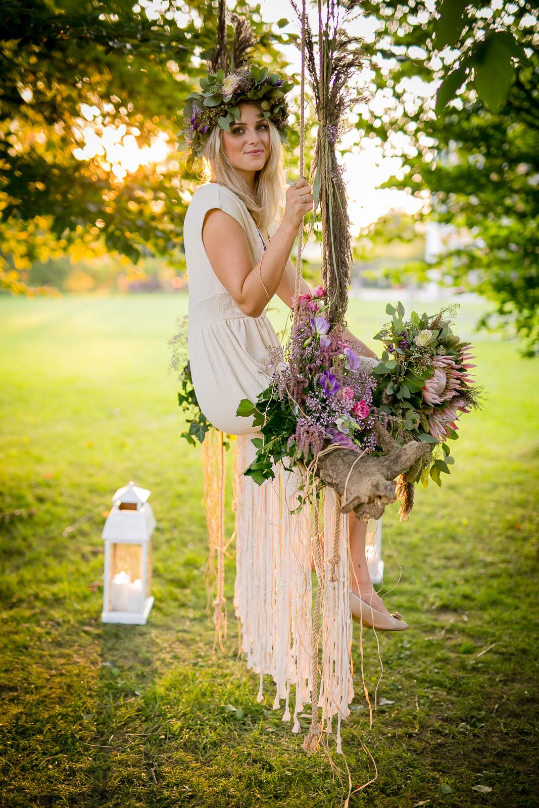 Blumenschaukel