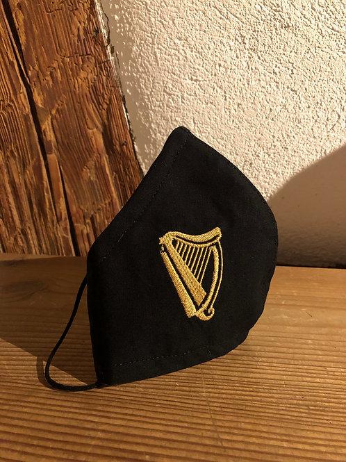 Alltagsmaske Harfe gesticktes Logo