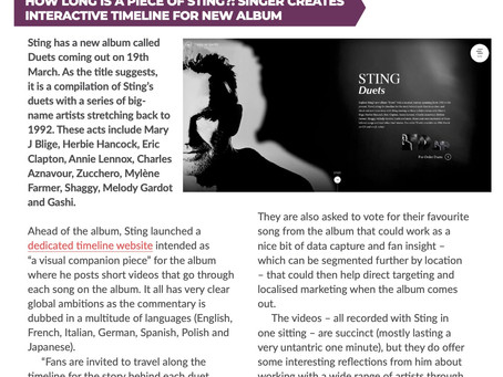 Sting - interactive timeline