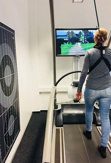 virtual parkour, Zebris Rehawalk system, Gait training