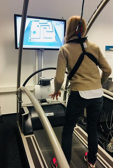 virtual parkour, Zebris Rehawalk system, Balance Training