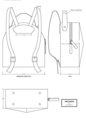 technical drawings designbag designerbag irma cipolletta
