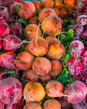 Colorful Beets at the Hollywood Farmer's