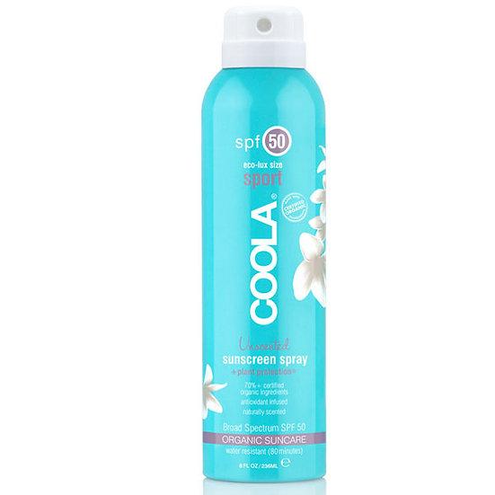 Coola Sport SPF 50 Unscented Organic Sunscreen Spray