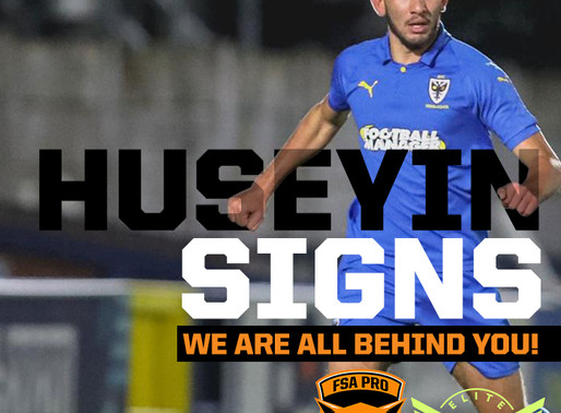 Huseyin signs Pro Contract