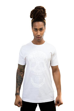 MENS GLOSS WHITE SKULL T-SHIRT