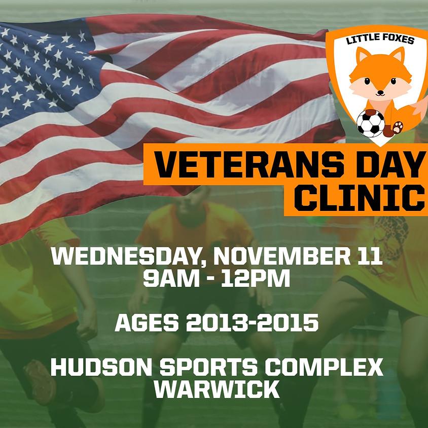 Little Foxes Veterans Day Soccer Clinic