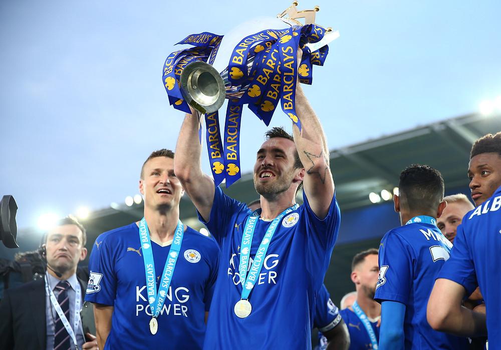 Christian Fuchs Premier League Champion - LCFC
