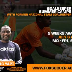 Goalkeeper Summer Camps hosted by former Cameroon National Team Keeper Eric Yapi Cielenou