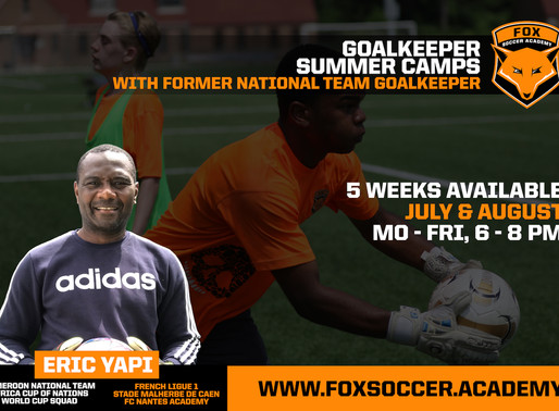 Goalkeeper Summer Camps hosted by former Cameroon National Team Keeper Eric Yapi Cielenou