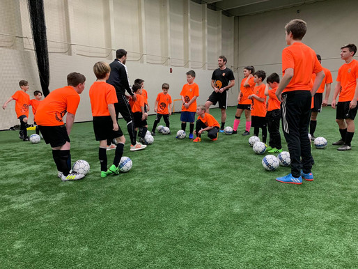 English Premier League Star, Christian Fuchs, Practices with Local Soccer Players