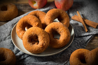 Homemade Sweet Apple Cider Donuts with S