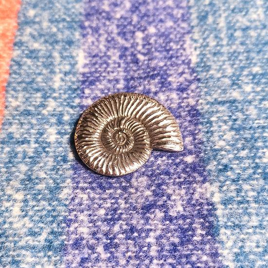 LADYCROW Small Ammonite Brooch