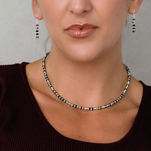 CARRIE ELSPETH Faceted Metallics Necklace