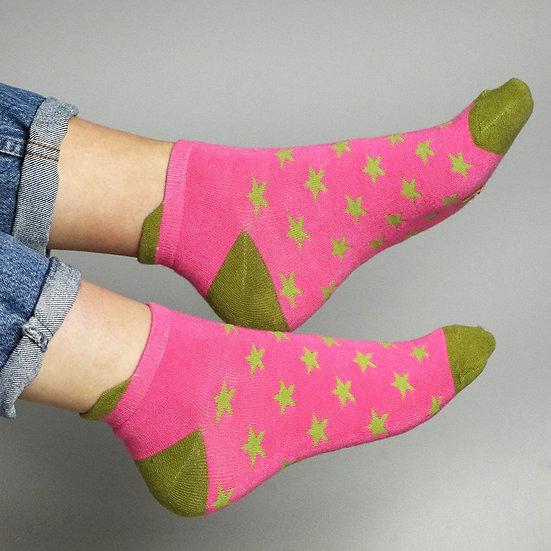 POM Sparkle Trainer Socks